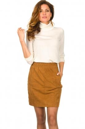 Dante 6 |  Leather skirt with seams Eshvi | camel