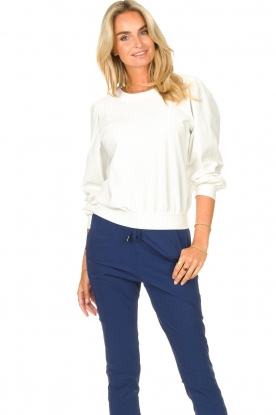 D-ETOILES CASIOPE |  Travelwear sweatshirt with puff sleeves Barbados | natural