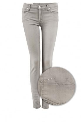 7 For All Mankind | Skinny jeans The Skinny met Swarovski lengtemaat 32 | licht grij