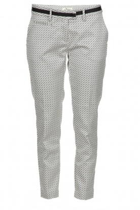 MASONS |  Trousers New York Slim | black/white