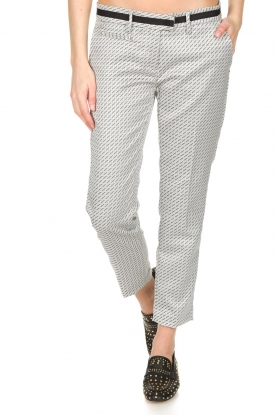 MASONS | Pantalon New York Slim | zwart/wit