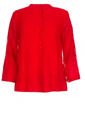 ba&sh |  Embroidered blouse Fleur | red