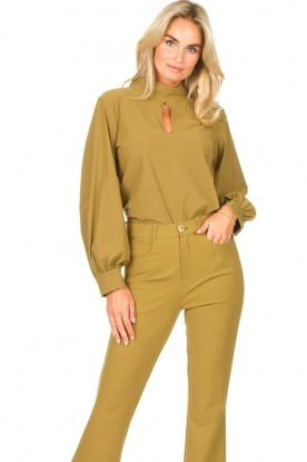 D-ETOILES CASIOPE |  Travelwear top Bora Bora | green