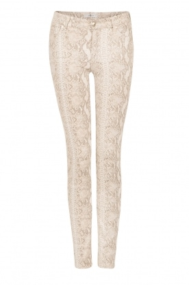 7 For All Mankind |  Printed pants Knee Seam Skinny | print