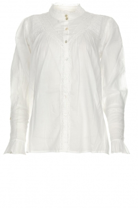ba&sh |  Blouse with ruffles Heiko | white