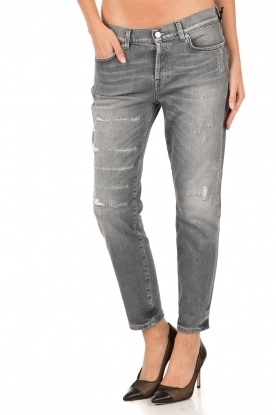 7 For All Mankind | Cropped Jeans Josie | grijs