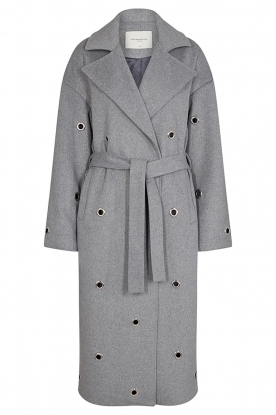 Copenhagen Muse |  Wool coat with ring details Ring | grey