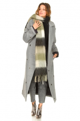 Look Wool coat with ring details Ring