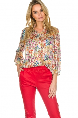 ba&sh | Blouse met bloemeprint Room | wit