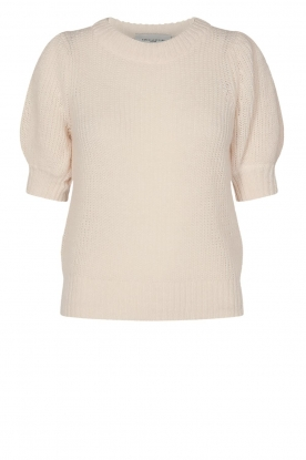 Copenhagen Muse |  Knitted sweater with puff sleeves Diva | creme