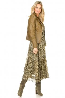 Look Maxi dress with split Frill