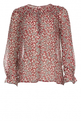 ba&sh |  Blouse with floral print Beatrix | red