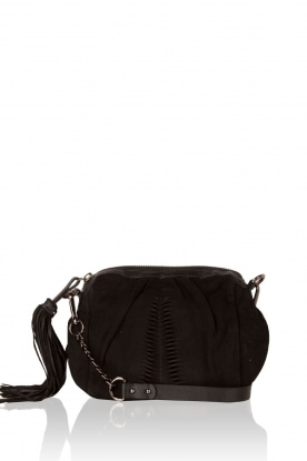 Becksöndergaard |  Leather Shoulder bag Adrienne | black
