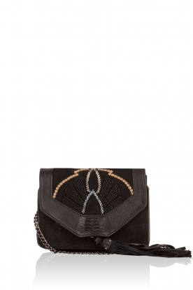 Leather shoulder bag Adalie | black