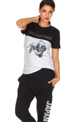 Zoe Karssen | T-shirt Japanther | zwart/wit