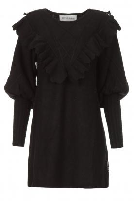 Silvian Heach |  Sweater dress wtih ruffles Rigel | black