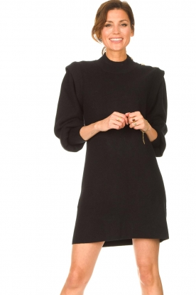 Silvian Heach |  Sweater dress with balloon sleeves Kettering | black
