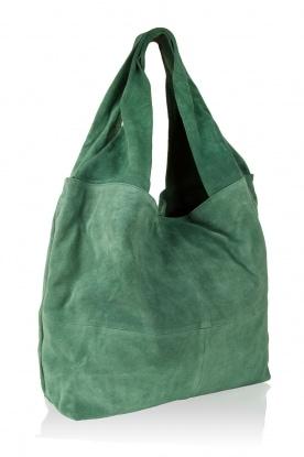 Becksöndergaard | Leren shopper Flatbush | groen