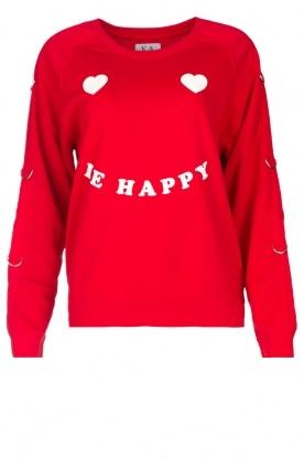 Zoe Karssen | Trui Le Happy | rood