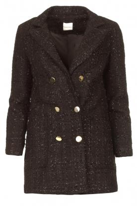 Silvian Heach |  Bouclé blazer with lurex Olunda | black