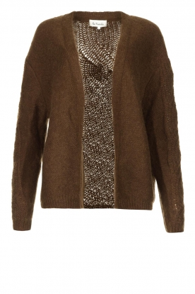 Les Favorites | Knitted cardigan Miranda | brown