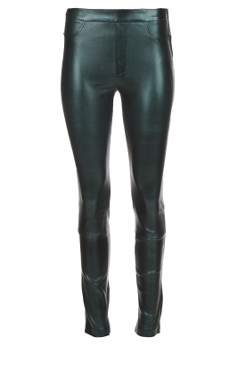 Dante 6 |  Metallic leather legging Tyson | green