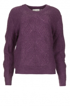 Les Favorites | Knitted sweater Babs | purple
