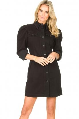 Silvian Heach |  Denim dress with puff sleeves Filner | black