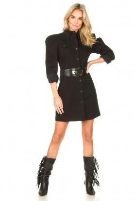Look Denim dress with puff sleeves Filner
