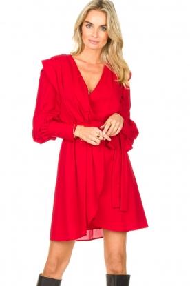 Silvian Heach |  Wrapped dress Alkasin | red