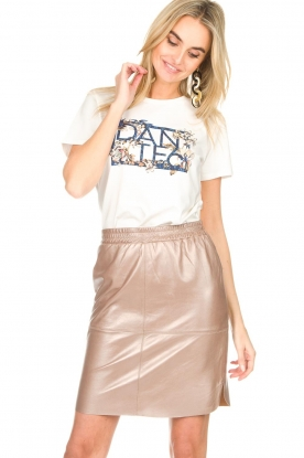 Dante 6 |  Leather skirt Comet | metallic