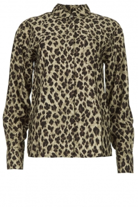 Les Favorites | Leopard print blouse Fien | animal print