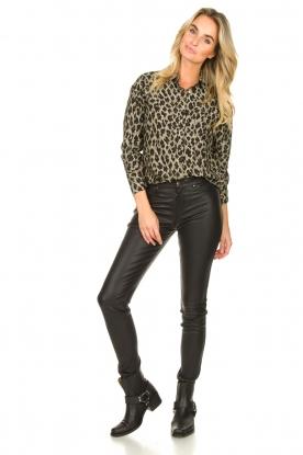 Look Leopard print blouse Fien