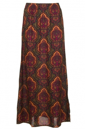 Les Favorites | Maxi-rok met paisleyprint Coco | multil