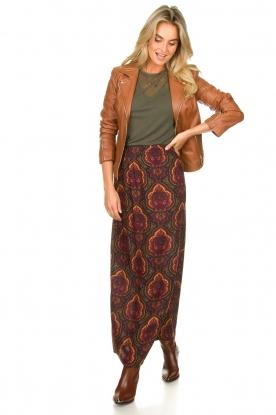 Look Paisley printed maxi skirt Coco