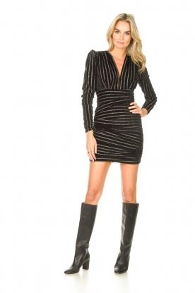 Look Dress with lurex stripes Lakit