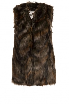 Faux fur gilet Malou | brown