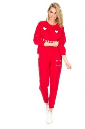 Zoe Karssen | Joggingbroek Le Happy | rood