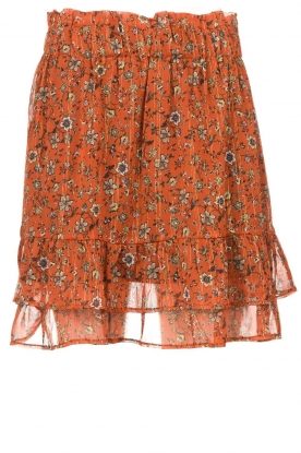 Les Favorites | Print skirt Marli | brown