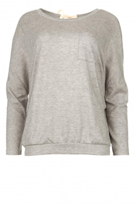 Les Favorites | Sweater with draped back Viv | grey
