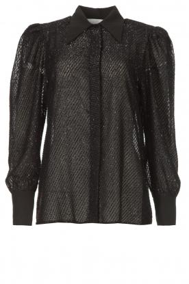 Silvian Heach |  Blouse with lurex details Legitim | black