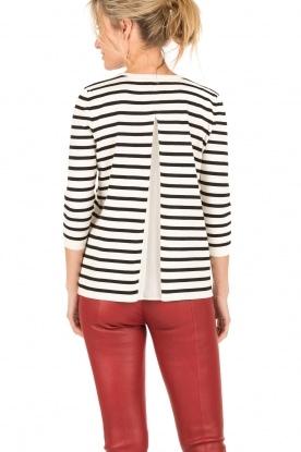 Set | Gestreepte trui Kate | zwart/wit