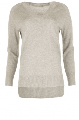Hunkydory |  Fine knitted sweater Hester | grey