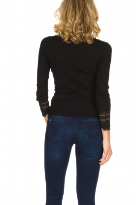 Rosemunde | Luxe basic top | zwart