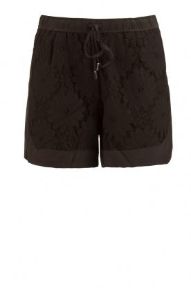 Style Butler | Zijden short Azalea | zwart