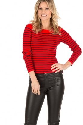 Set | Gestreepte trui Davon | rood/donkerblauw