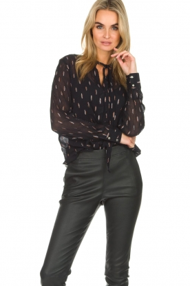 Dante 6 |  Blouse with glitters Ellery | black