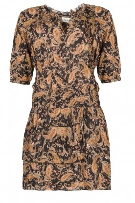 Les Favorites |  Paisley print dress Flori | brown