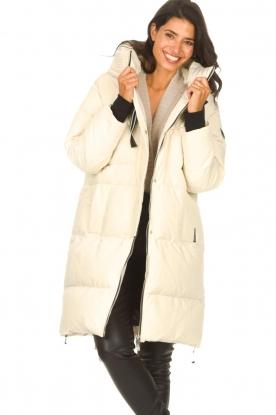 Silvian Heach |  Long down jacket Bodax | natural