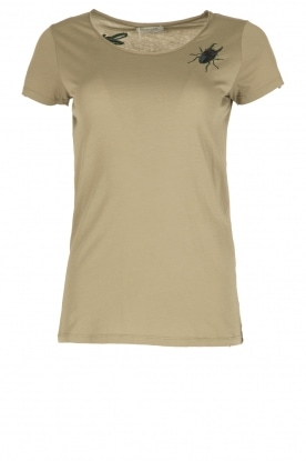 Hunkydory |  T-shirt with patches Ostin | olive green
